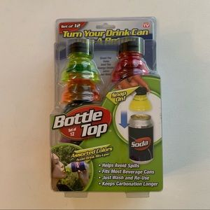 Bottle Tops For Cans As Seen on TV Set of 12 New